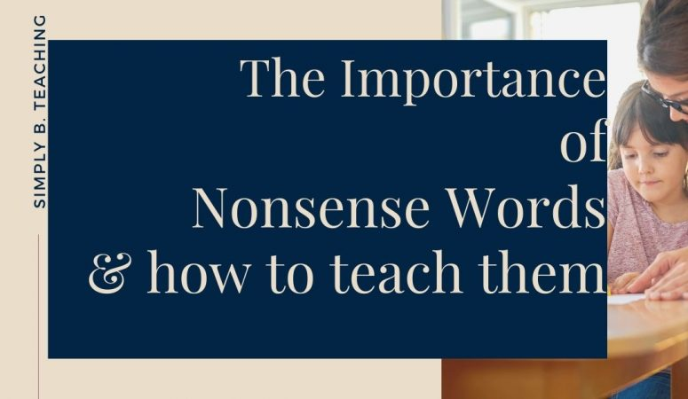 The Importance of Nonsense Words & How to Teach Them!