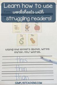 worksheets-for-struggling-readers