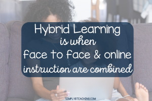 what is hybrid learning