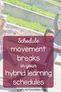 hybrid learning schedule