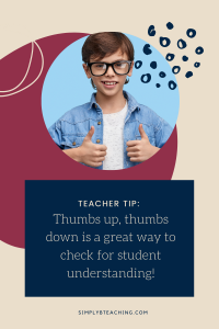 Thumbs up, thumbs down is a great FLOSS Rule game!